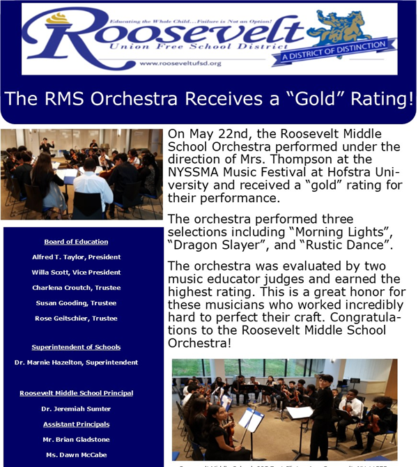 RMS Orchestra Goes Gold!