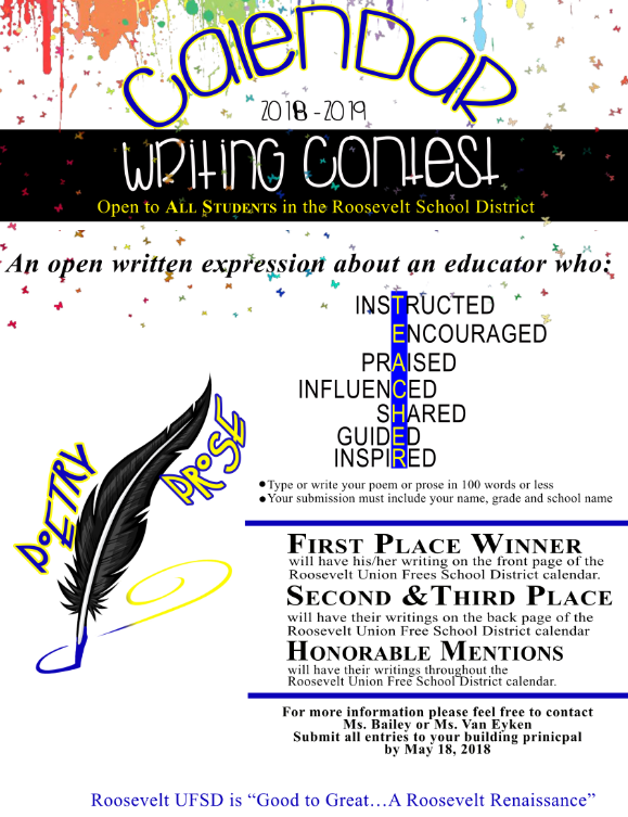 District initiatives 2018 2019 calendar writing contest Calligraphy youtube