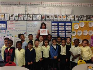 Mrs. Romero and her Kindergarten class